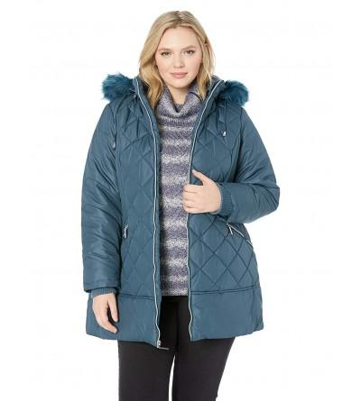Details Womens Diamond Puffer Fashion