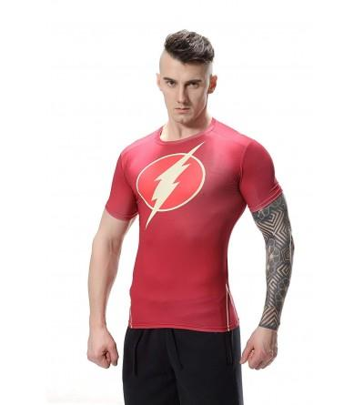 Red Plume Compression T Shirt Jogging