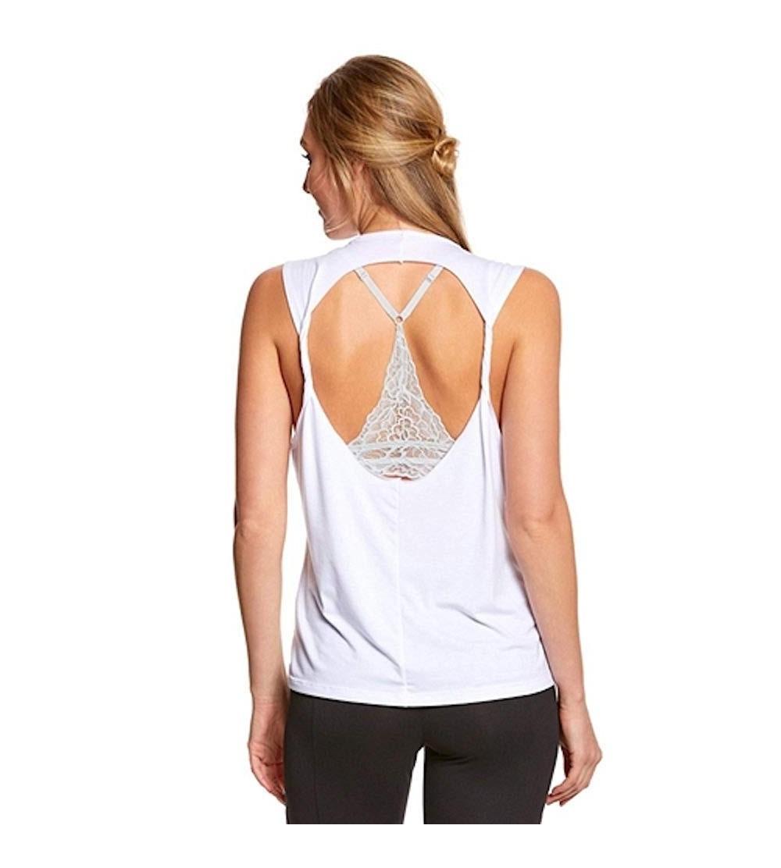 Onzie Twist Back Top White