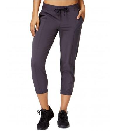 Ideology Woven Cropped Pants Charcoal