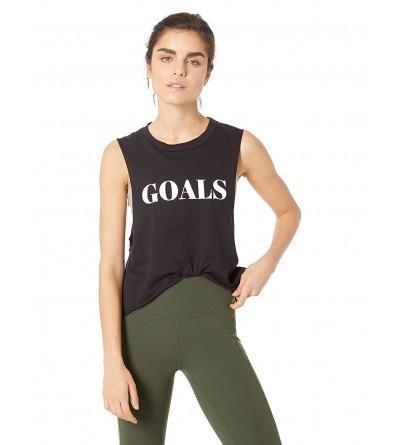 StyleStalker Womens Goals Crop Muscle