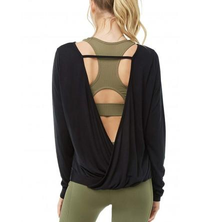 Muzniuer Womens Sleeve Backless Thumbhole