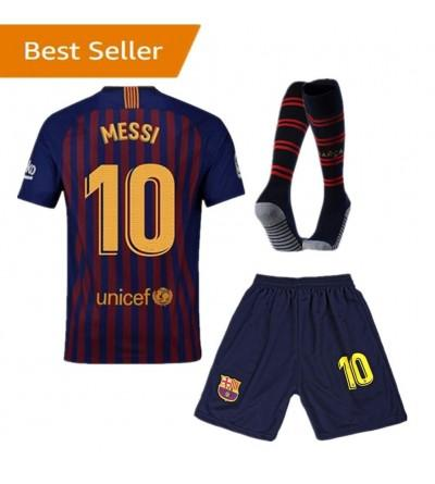 buy popular 30bf4 4aa91 Kids Messi New Away Jerseys 18-19 Barcelona 10 Football ...