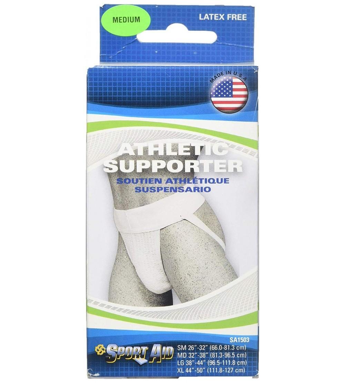 Sportaid Athletic Supporter White Medium 1Ea