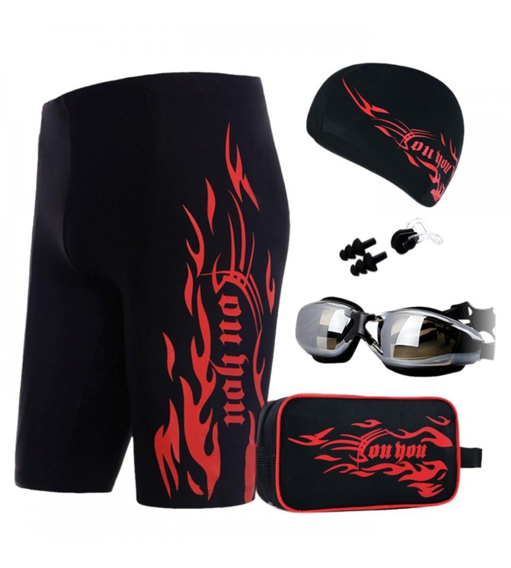 belamo Mens Athletic Jammer Solid Sport Jammer Quick Drying Shorts Swimsuit