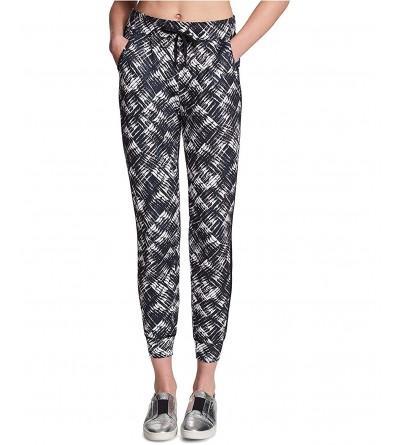 DKNY Womens Printed Jogger Pants