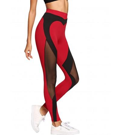 WDIRARA Contrast Fishnet Stretchy Leggings