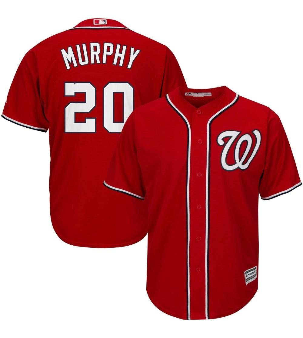 competitive price 39360 7ca10 Daniel Murphy Washington Nationals MLB Youth Red Alternate Cool Base  Replica Jersey - CQ182IYCMLA