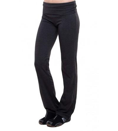 T Party Fold Over Waist Pants Charcoal