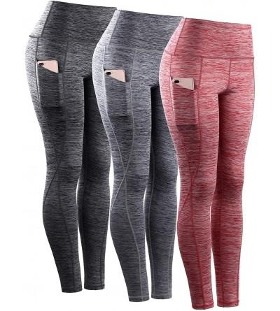 Neleus Womens Control Leggings Pockets