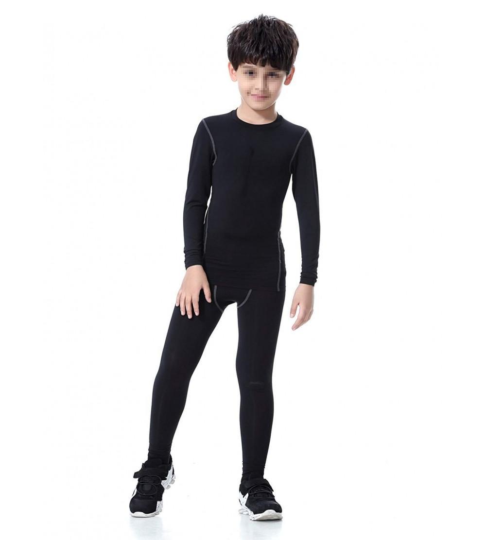 LNJLVI Boys /& Girls Sports Compression Shirts Long Sleeve and Pant 2 PCS Set