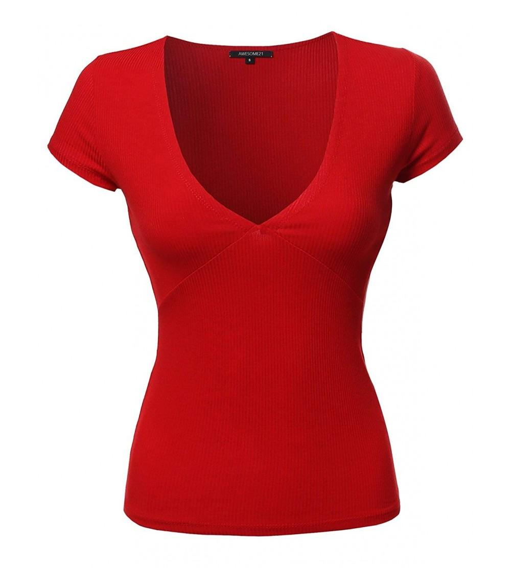 Awesome21 Womens Sleeve Ribbed Various