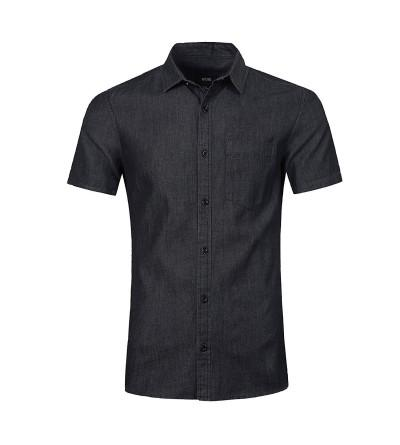 NUTEXROL Cotton Short Sleeve Denim Shirt
