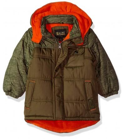 iXtreme Space Print Colorblock Puffer