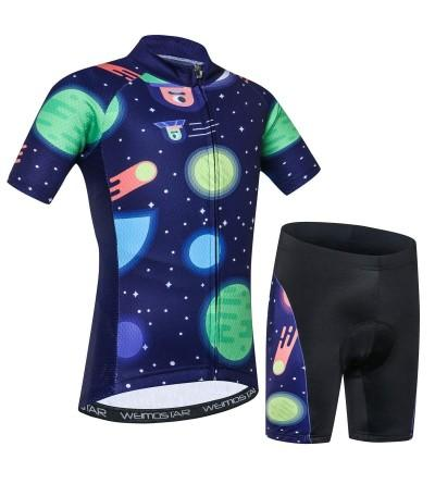 Cycling Jersey Cartoon Mountain Breathable