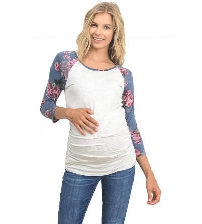 LaClef Womens Baseball Maternity T Shirts