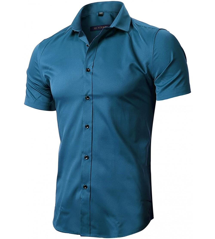 Shirts Bamboo Sleeve Elastic Casual