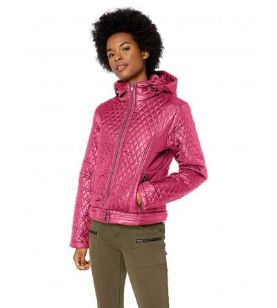Pink Platinum Womens Diamond Quilted