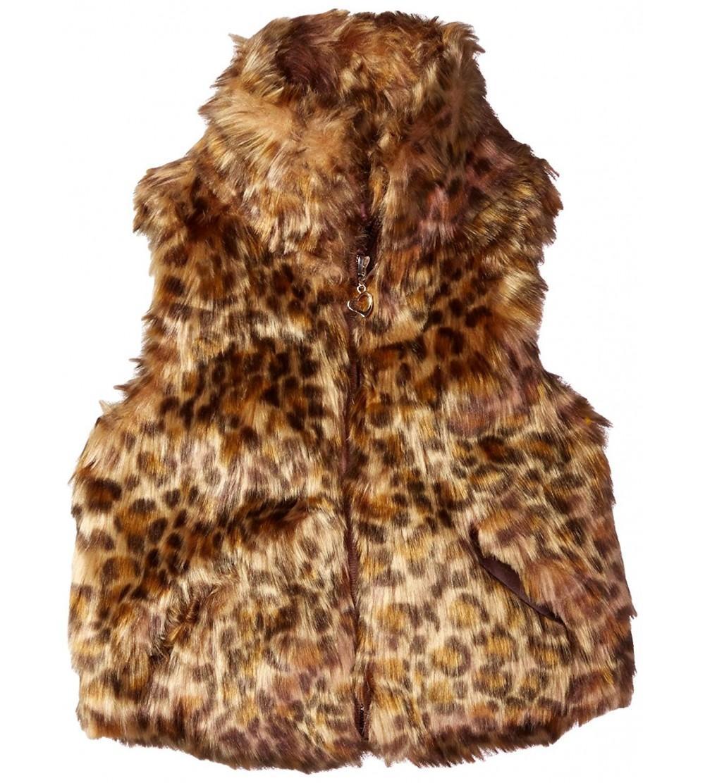Darkbrown 2T Urban Republic Toddler Ur Girls Faux Fur Vest