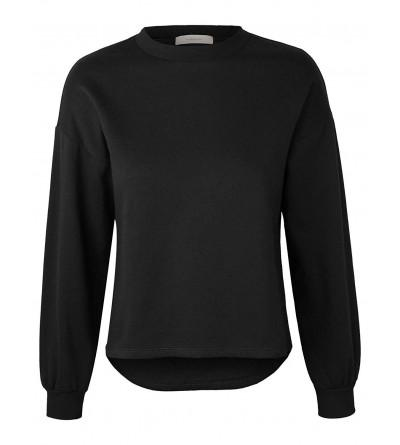 makeitmint Womens Oversized Sweatshirt YIL0020 BLACK MED