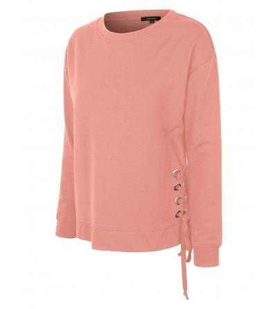makeitmint Womens Detail Pullover YIL0024 MAUVE SML