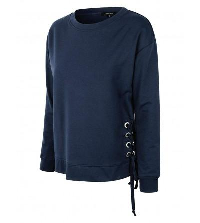 makeitmint Womens Detail Pullover YIL0024 NAVY MED