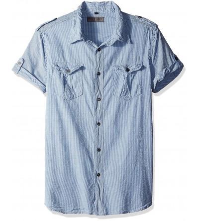 ROGUE Short Sleeve Button Stripe