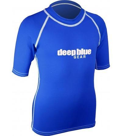 Deep Blue Short Sleeve Rashguard