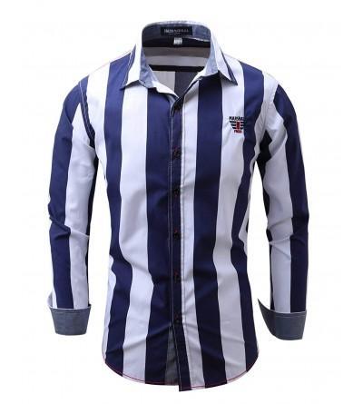 Musen Men Sleeve Striped Regular