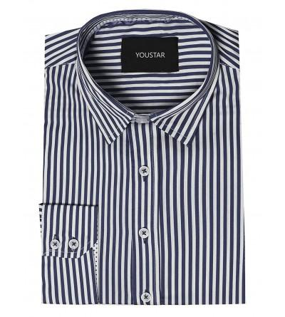 Youstar Sleeve Striped Button Shirt