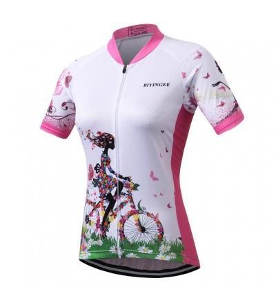 BIYINGEE Womens Cycling Jersey Wicking