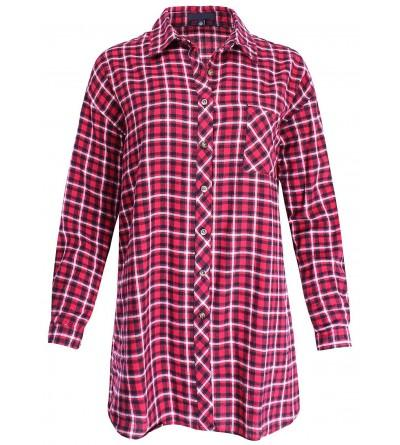 Ladies Code Flannel Checker Oversized