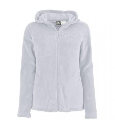 White Sierra Fleece Hooded Jacket