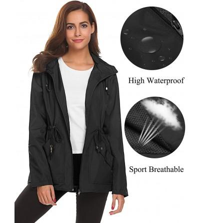 Romanstii Waterproof Lightweight Raincoat Windbreaker