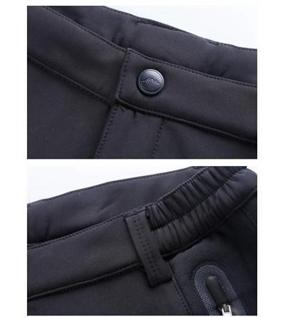TBMPOY Womens Hiking Cargo Pants Outdoor Waterproof Windproof Softshell Fleece Snow Pants