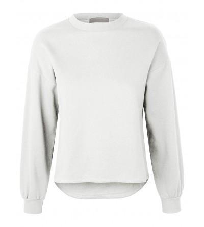 makeitmint Womens Oversized Sweatshirt YIL0020 WHITE MED