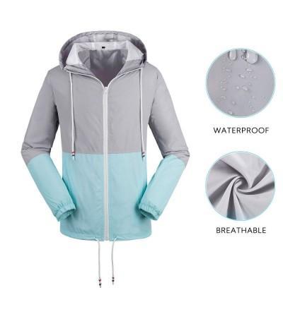 Wendao Lightweight Water Resistant Raincoat Windbreaker