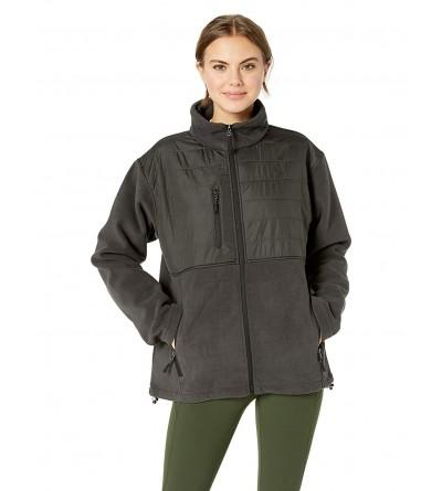 UltraClubs Fleece Jacket Quilted Overlay