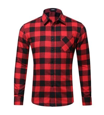 CATERTO Button Sleeve Plaid Flannel