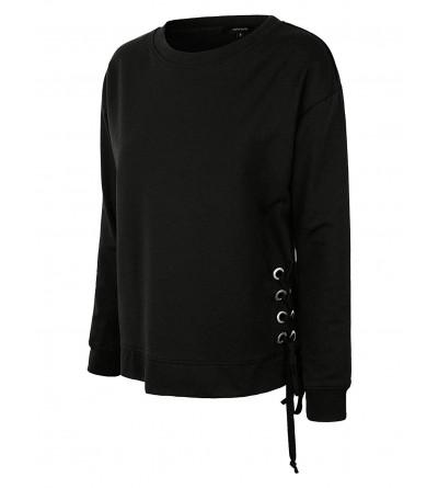 makeitmint Womens Detail Pullover YIL0024 BLACK SML