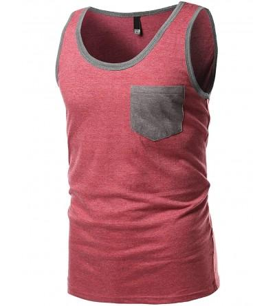 Youstar Mens Contrast Colorblock Round